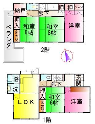 伊勢市藤里町 間取図・土地図