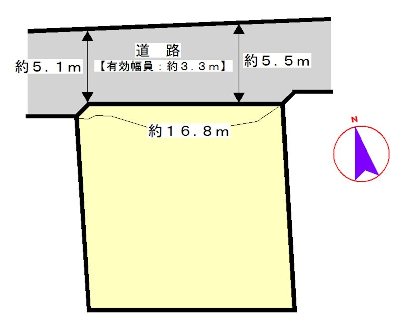 桑名市額田 間取図・土地図