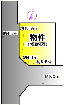 明和町坂本 間取図・土地図