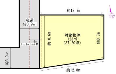 大安町大井田 間取図・土地図