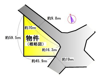 安楽島町 間取図・土地図