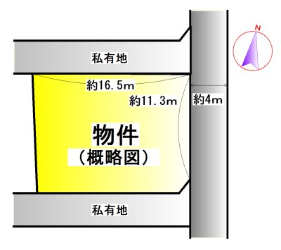 伊勢市中村町 区画図