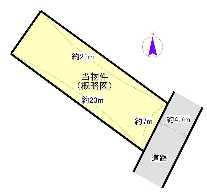 大黒田町 間取図・土地図