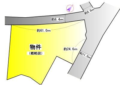 志摩市阿児町鵜方 間取図・土地図