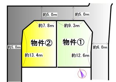川端町② 間取図・土地図