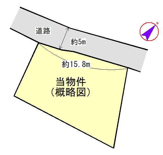 山室町 間取図・土地図