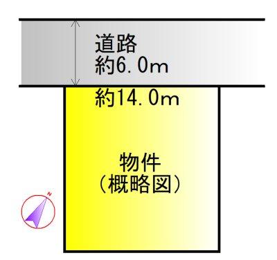 伊勢市西豊浜町(西豊浜苑) 間取図・土地図
