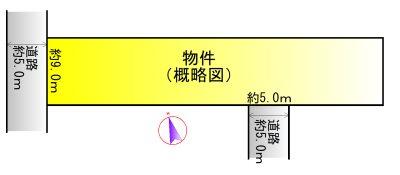 神社港 間取図・土地図