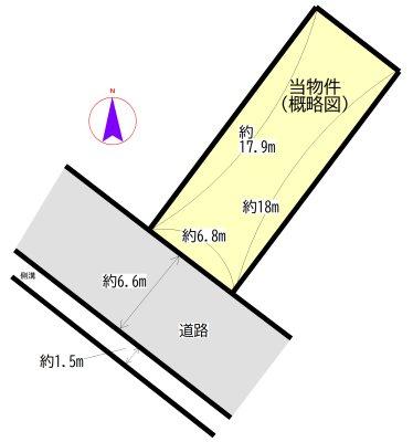 川井町 間取図・土地図