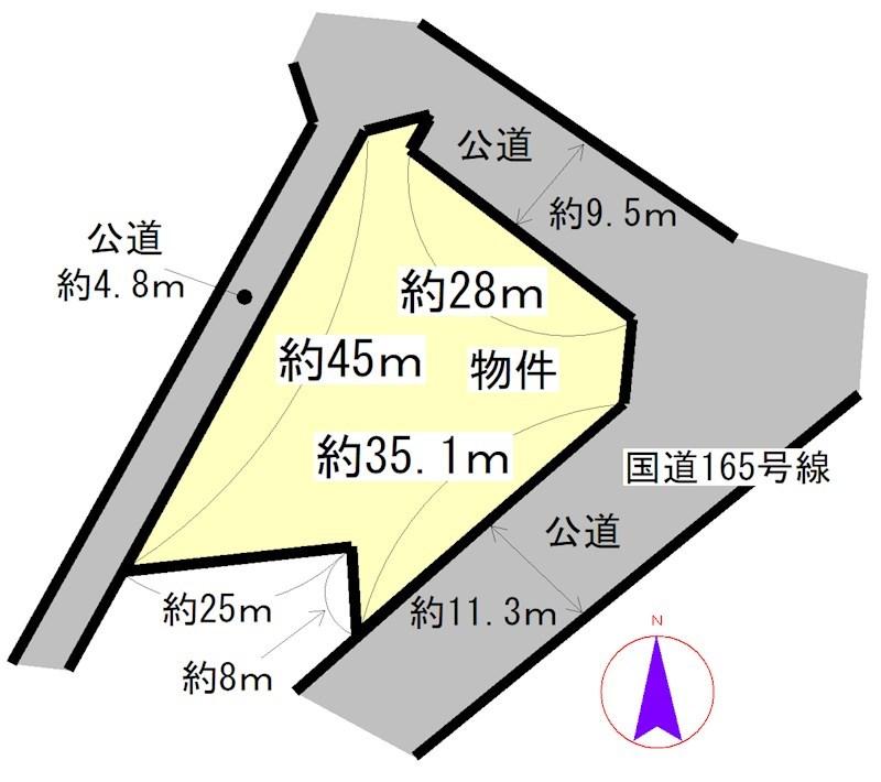 白山台 間取図・土地図