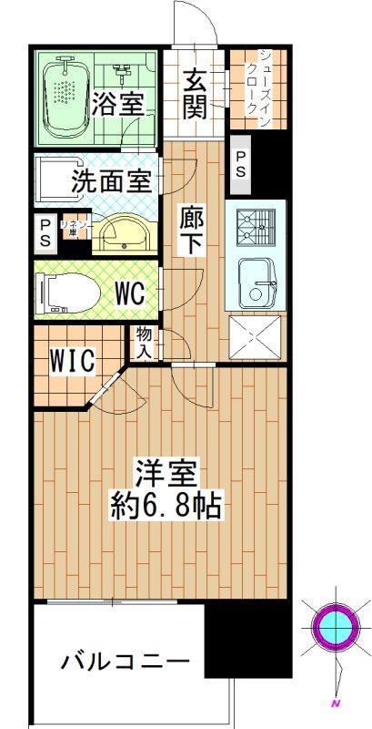 オープンレジデンシア名古屋駅THE COURT207 間取図・土地図