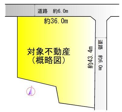 小向井ニュータウン 間取図・土地図