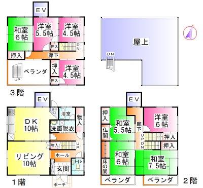 円座栄団地 間取図・土地図
