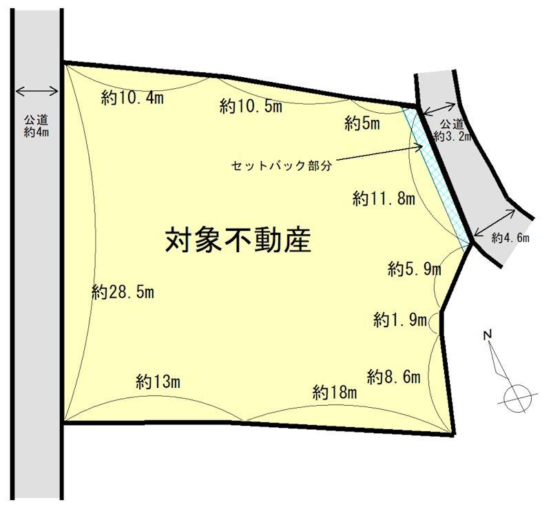 桑名市大字坂井 間取図・土地図