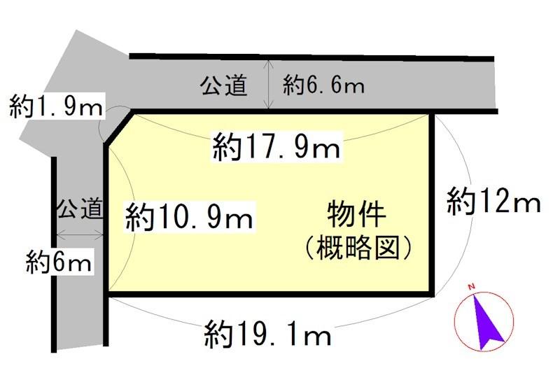 中河原 間取図・土地図
