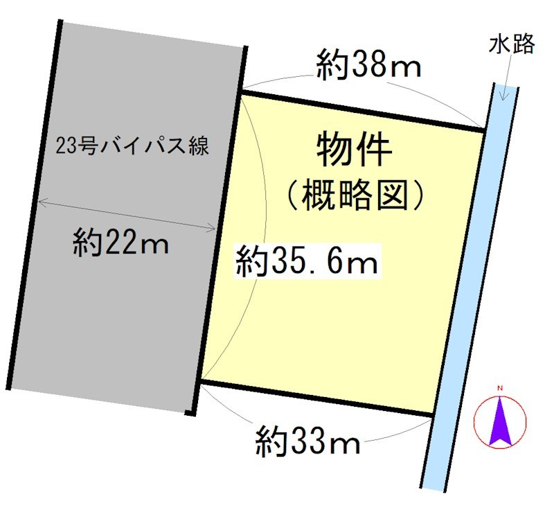 島崎町 間取図・土地図
