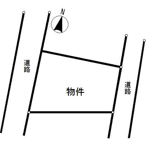 多治見市小名田町 間取図・土地図