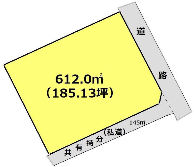 岐阜県恵那市大井町 間取図・土地図
