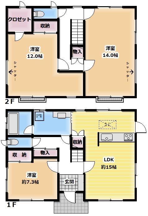 岐阜県多治見市姫町2丁目 間取図・土地図