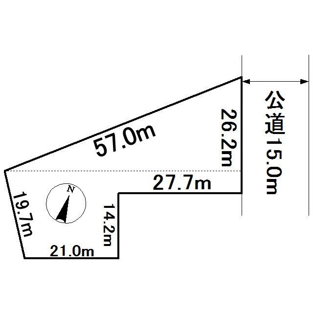 上ところ104番 土地 間取図・土地図