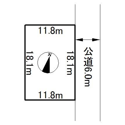網走市字天都山33番 土地 間取図・土地図