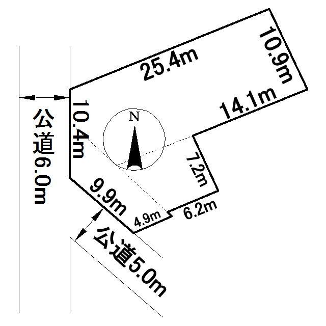 東陵町183番 土地 間取図・土地図