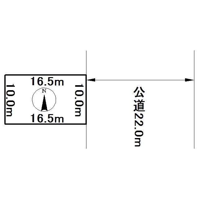 とん田西町320番 土地 間取図・土地図