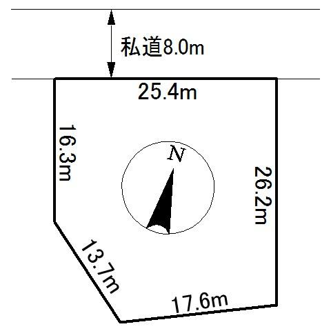 留辺蘂町字昭栄456番 土地 間取図・土地図