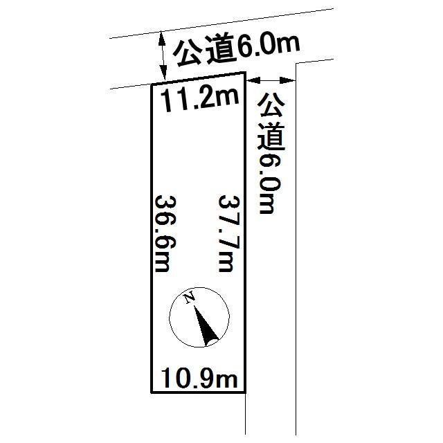 美幌町字青山南3番 土地 間取図・土地図
