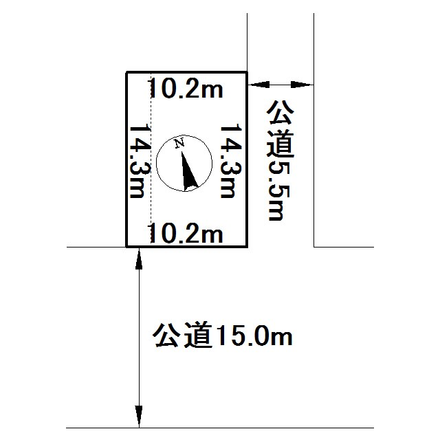 美幌町字仲町1丁目141番 土地 間取図・土地図