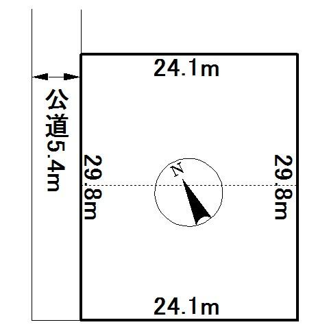 美幌町字東四条南4丁目16番 土地 間取図・土地図