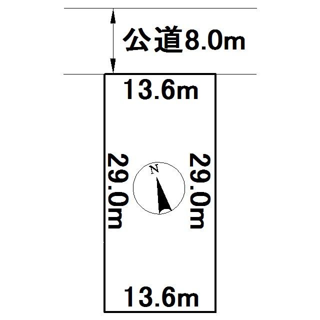 美幌町字青葉1丁目13番 土地 間取図・土地図