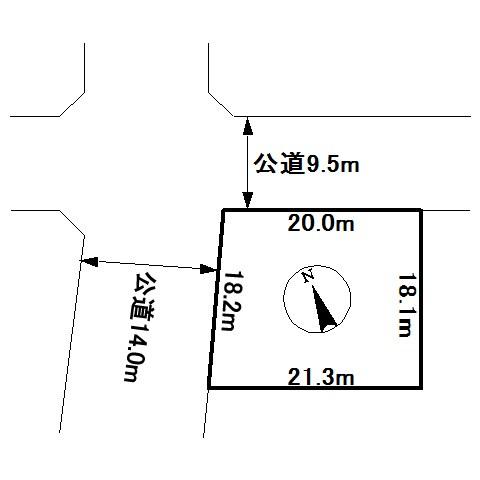 美幌町字東一条南5丁目1番 土地 間取図・土地図