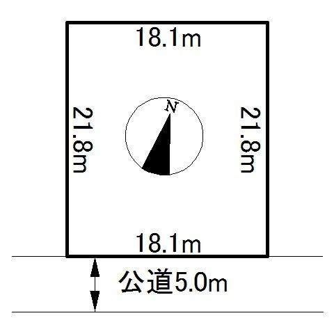 訓子府町東幸町30番 土地 間取図・土地図