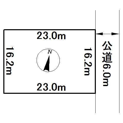 相内町59番 土地 間取図・土地図