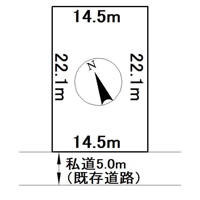 川東348番 土地 間取図・土地図
