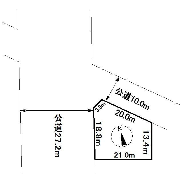 端野町二区468番 土地 間取図・土地図