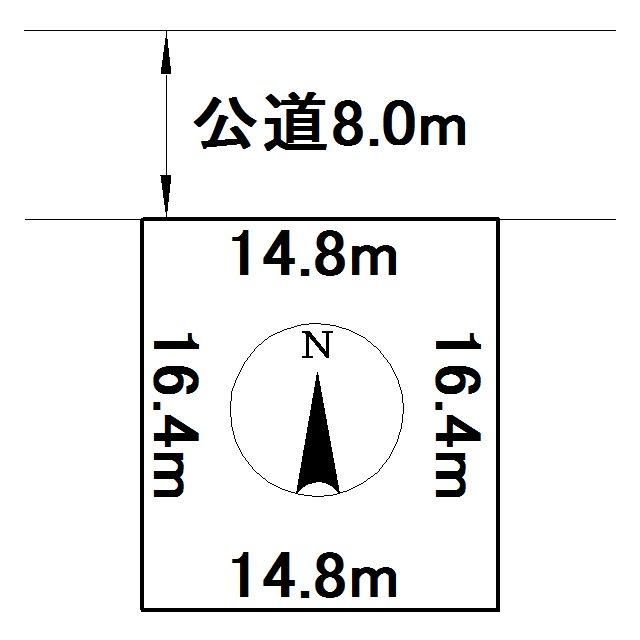 大正91番 土地 間取図・土地図