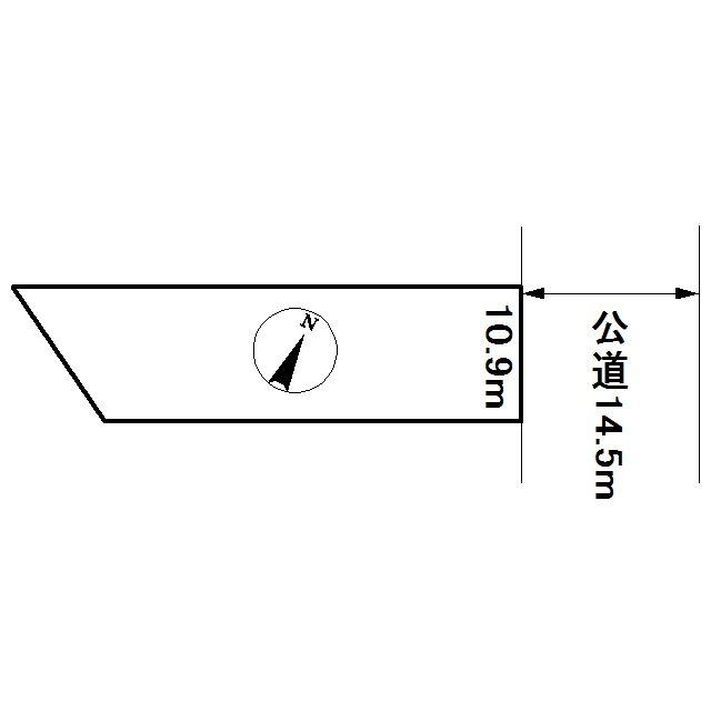 美幌町字新町3丁目76番 土地 間取図・土地図