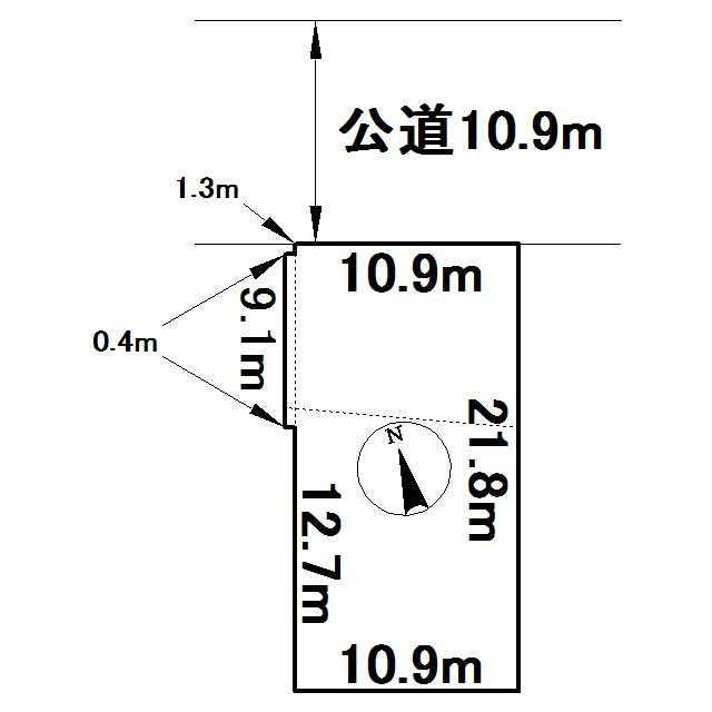 美幌町字東三条南4丁目1番 土地 間取図・土地図