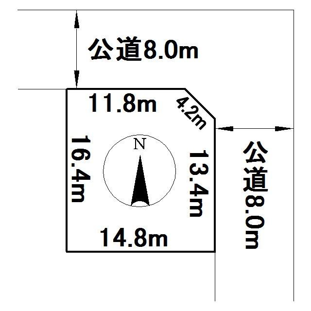 大正91番58 土地 間取図・土地図