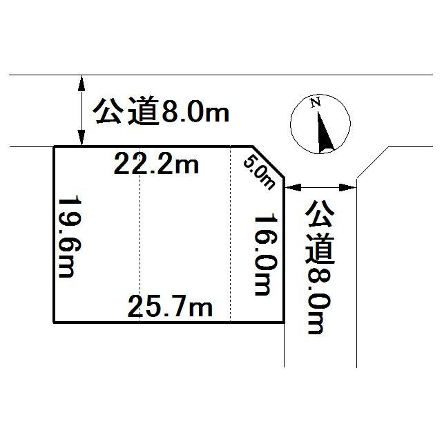 美幌町字野崎10番 土地 間取図・土地図