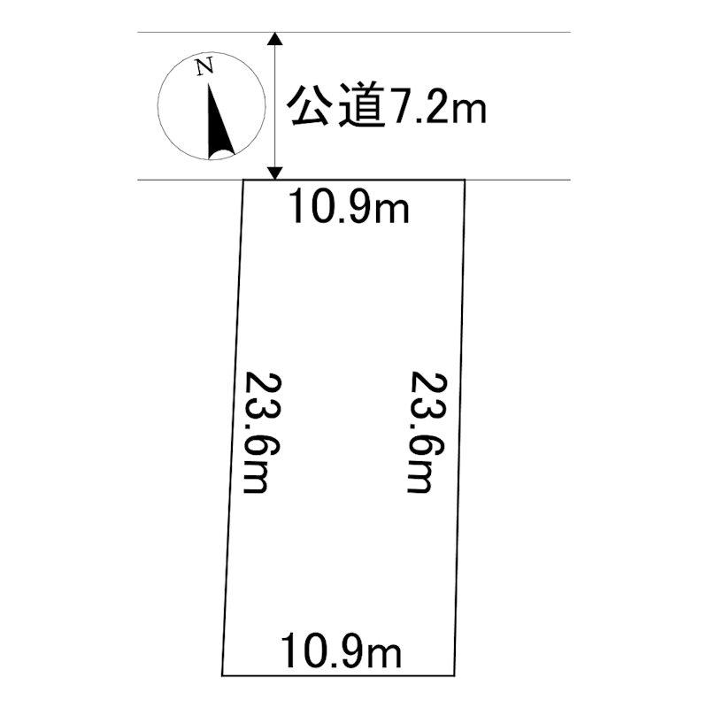留辺蘂町元町71番 土地 間取図・土地図