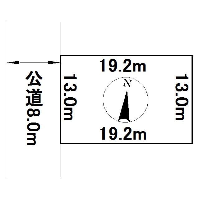 無加川町408番 土地 間取図・土地図