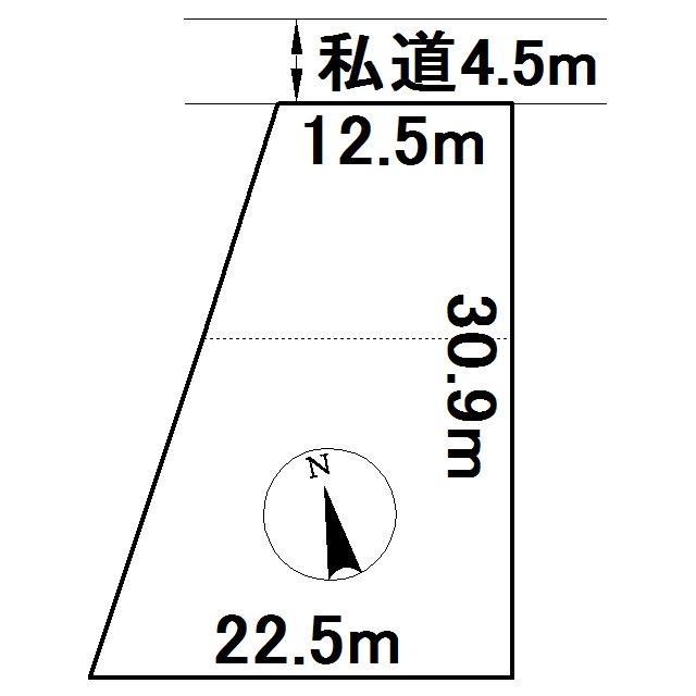 美幌町字美里12番 土地 間取図・土地図