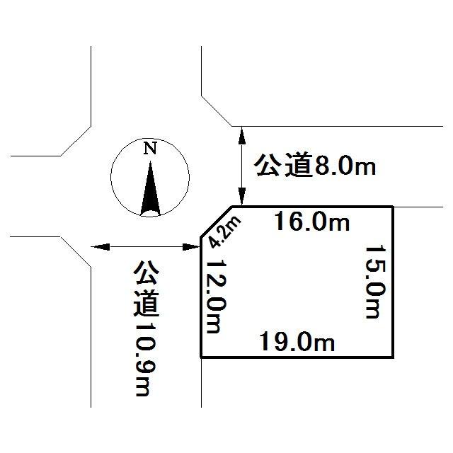 桂町2丁目191番 土地 間取図・土地図