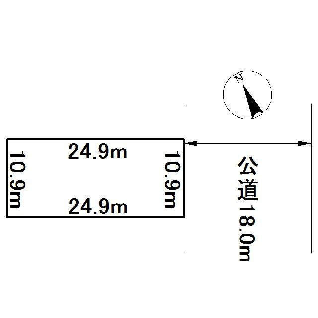 美幌町字西一条北3丁目4番 土地 間取図・土地図