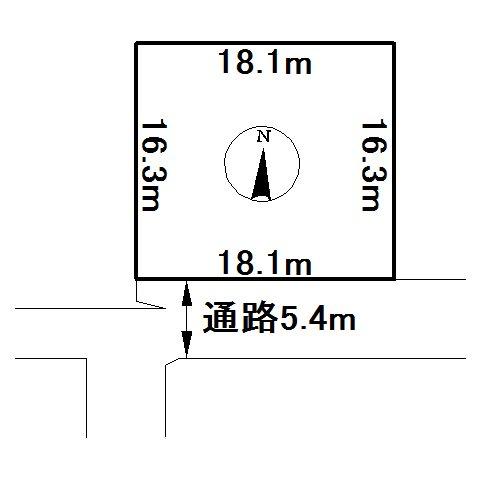 訓子府町若富町181番 土地 間取図・土地図