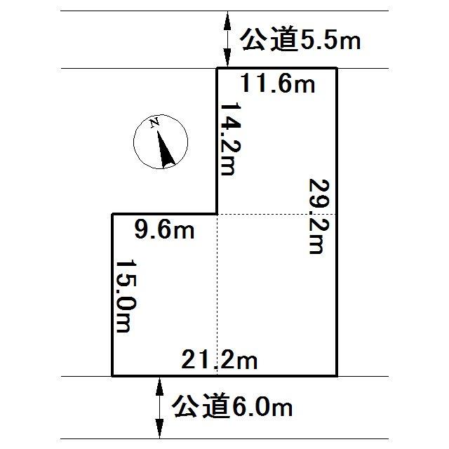 美幌町字栄町1丁目2番 土地 間取図・土地図