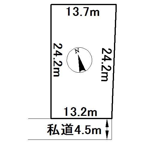 美幌町字美里16番 土地 間取図・土地図